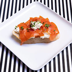 Smoked salmon on sourdough toast thumbnail