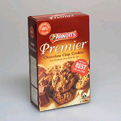 Arnotts chocolate chips premier cookies - 310g thumbnail