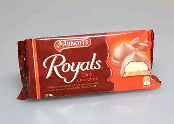 Arnotts chocolate royals dark - 200g thumbnail