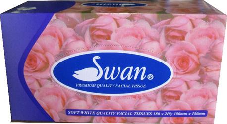 Swan facial tissues - 2 ply - 180 sheets thumbnail