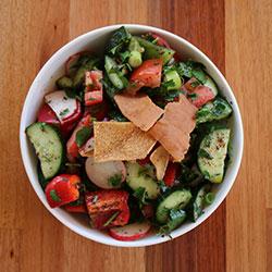 Fatoush salad - serves 9 thumbnail