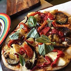 Aubergine pizza thumbnail