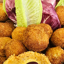 Pesto and chicken arancini ball thumbnail