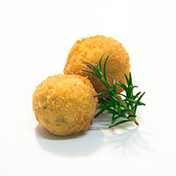 Semi dried tomato, basil and brie arancini thumbnail