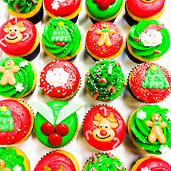 Christmas cupcake - mini thumbnail