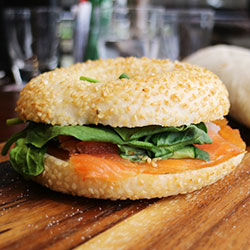 Smoked salmon bagel thumbnail