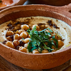 Hummus with fresh chickpea salsa thumbnail