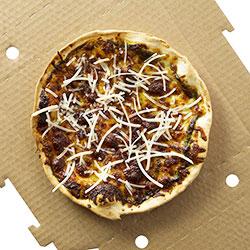 Pesto and parmesan pizza thumbnail