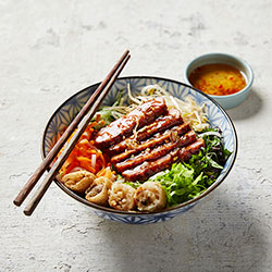 BBQ pork patty vermicelli bowl thumbnail
