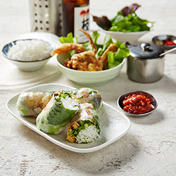 Soft shell crab rice paper roll thumbnail