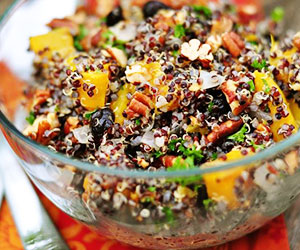 Roast pumpkin and quinoa salad thumbnail