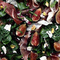 Balsamic fig and goat cheese salad platter thumbnail