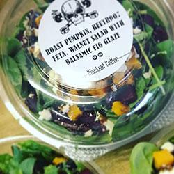 Roasted pumpkin spinach beetroot salad thumbnail