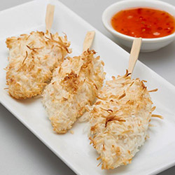 Coconut chicken skewers thumbnail