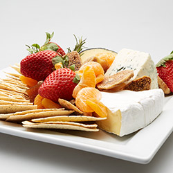 Gourmet cheese and fresh fruit platter thumbnail