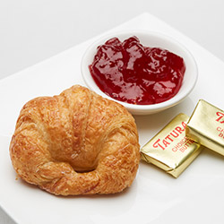 Croissant with jam and butter thumbnail