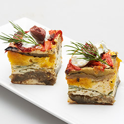 Vegetable frittata squares - mini thumbnail