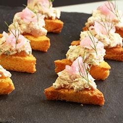 Poached salmon salad on brioche toast thumbnail