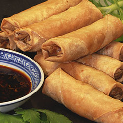 Spring roll with Asian mushrooms and green onion thumbnail