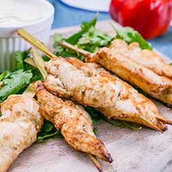 Soy and ginger chicken skewers  thumbnail