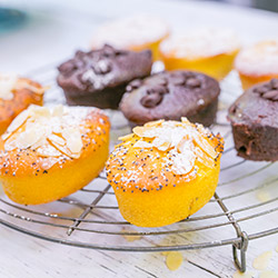 Orange, chia and poppy seed friand thumbnail