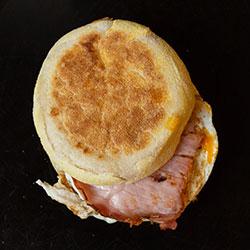 Bacon and egg English muffin thumbnail