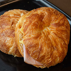 Ham and cheese croissant - large thumbnail