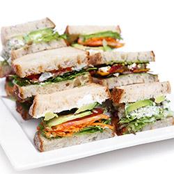 Mixed Artisan bread sandwich platter thumbnail