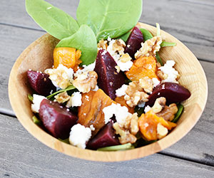 Pumpkin and feta salad thumbnail