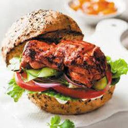 Chilli chicken burger - large thumbnail