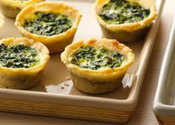 Spinach and cheese quiche - mini thumbnail