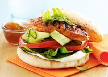 Tandoori chicken burger - large thumbnail