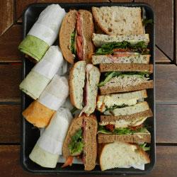 Mixed bread sandwich platter thumbnail