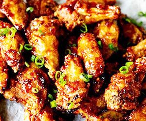 Honey and soy chicken drummettes and wings - mini thumbnail