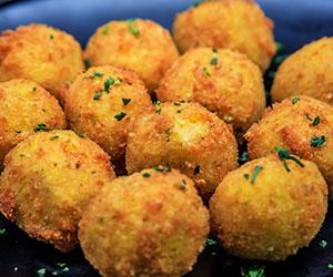 Herbed cheese arancini ball - mini thumbnail