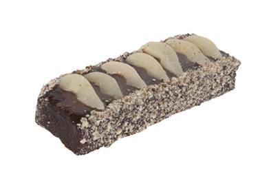Flourless chocolate and pear log thumbnail
