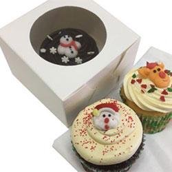Christmas cupcake - 7cm - gift boxed thumbnail