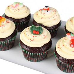 Christmas cupcakes - red velvet thumbnail