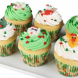 Christmas cupcakes - vanilla thumbnail