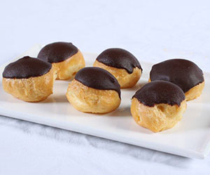 Chocolate dipped profiteroles thumbnail