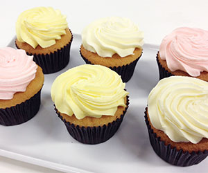 Vanilla sponge cupcakes - fudge icing thumbnail