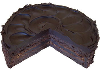 Flourless chocolate almond cake - 10 inches - serves up to 20 thumbnail