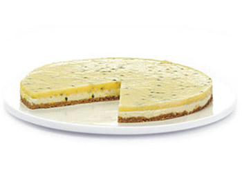 Passionfruit curd custard flan - 11 inches - serves up to 18 thumbnail