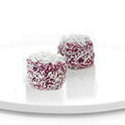 Petite raspberry and white chocolate lamington thumbnail