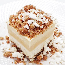 Caramel and butter popcorn slice thumbnail