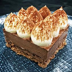 Dark chocolate and hazelnut mousse slice thumbnail