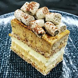 Honey earl grey cake slice - mini thumbnail