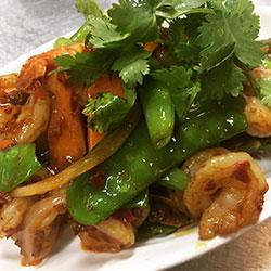 Sweet and sour king prawn platter thumbnail