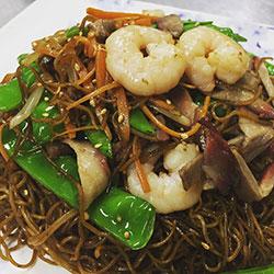 Singapore noodle platter thumbnail