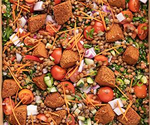 Lentil, tabouleh and falafel salad thumbnail